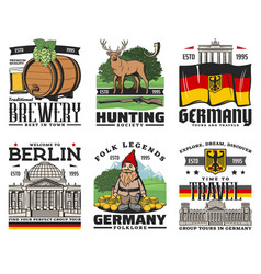 germany tourism and travel berlin city tours vector image