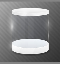 glass cylinder with white podium design template vector image
