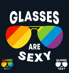 Glasses are sexy t-shirt print minimal design for vector