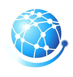 Globe symbol design elements logo vector image