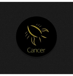 Golden Cancer sign vector