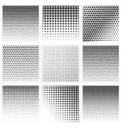 Halftone dots pattern set vector