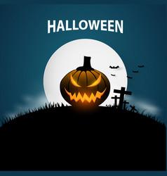 halloween banner background vector image