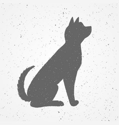 hand drawn black dog vector image