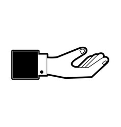 hand with palm up icon image vector image
