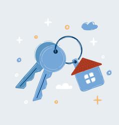 House key black web icon real vector