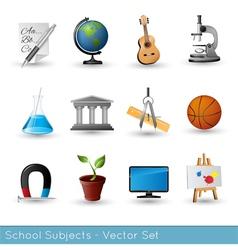 Icon Set Subjects VS vector image