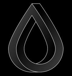impossible water drop icon vector image
