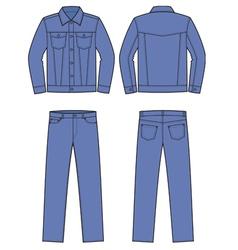 Jeans wear vector