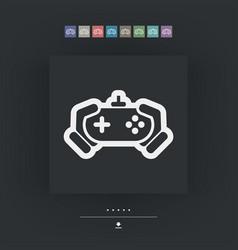 Joypad icon vector