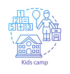Kids camp concept icon summer children club vector