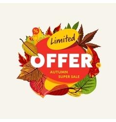 Limited offer banner Autumn super sale vector