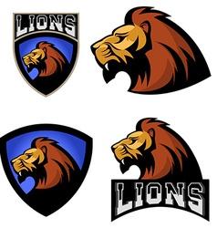 Lions sport team or club logo template vector