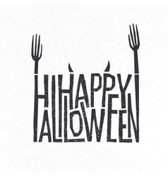 logotype design halloween holiday sign vector image
