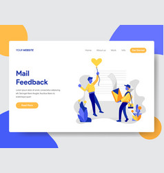 Mail feedback concept vector