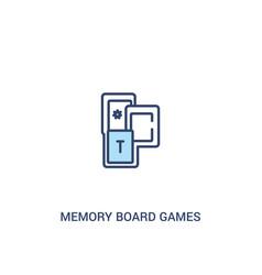 Memory board games concept 2 colored icon simple vector