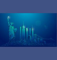 newyorkblueedit vector image