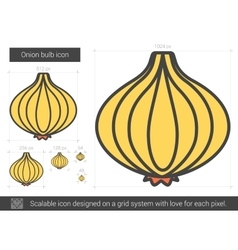 Onion bulb line icon vector