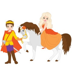 Princess with Prince vector