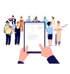 recruitment agency recruit employees boss hiring vector image