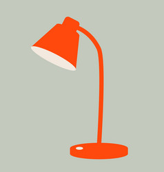 red lamp desktop vector image