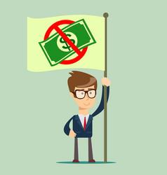 Rejection money concept refuse cash vector