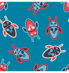 Robot seamless pattern vector image