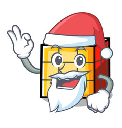 Santa rubik cube mascot cartoon vector