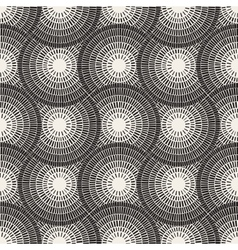 Seamless Black and White Mosaic Pavement vector image