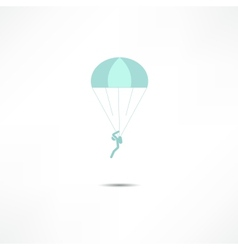 Skydiver icon vector