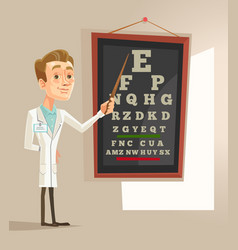 Smiling oculist ophthalmologist doctor man vector