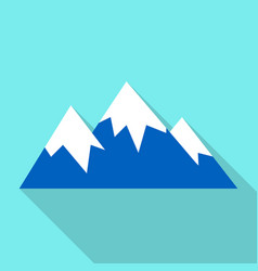 snow mountain peak icon flat style vector image