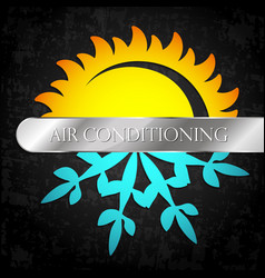 Sun and snowflake heating and ventilation vector