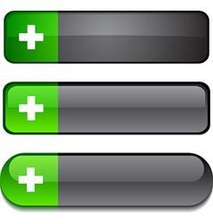 Switzerland button set vector image