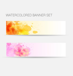 template for two horizontal banners with abstract vector image