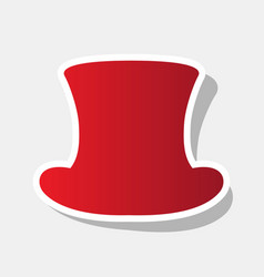 top hat sign new year reddish icon with vector image