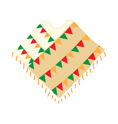Traditional mexican poncho vector