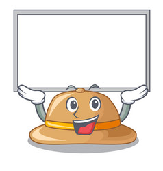 Up board cork hat isolated on the mascot vector