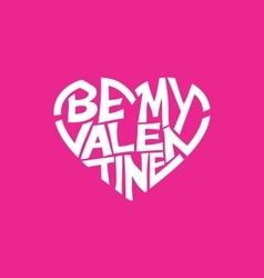 Valentine typography vector