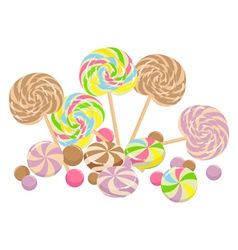 Vintage style lollies vector