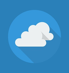 Weather Flat Icon Very Cloudy vector image