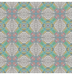 Abstract vintage ethnic seamless pattern ornament vector image vector image