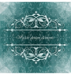 Beautiful background with floral pattern vector image