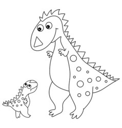 Black and White Dinosaurs vector image vector image