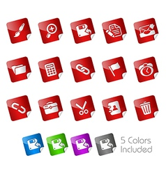 Interface Stickers vector image