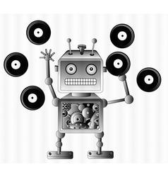 music robot vector image