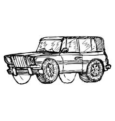 off-road car vector image vector image