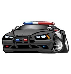 Police Muscle Car Cartoon vector image vector image