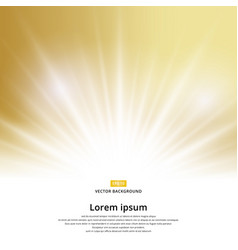 sunlight effect sparkle on gold background with vector image