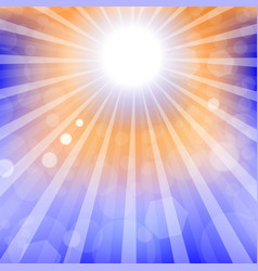 abstract sun background summer sky pattern vector image